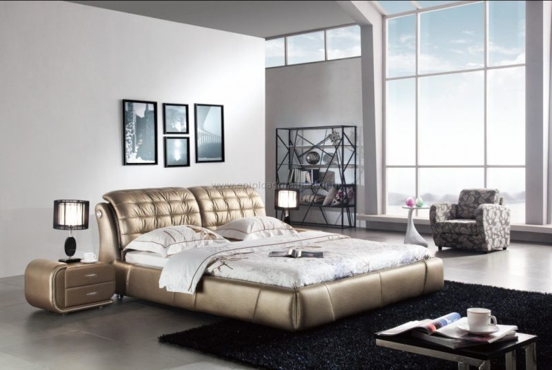 cool-luxury-leather-bedroom-furniture